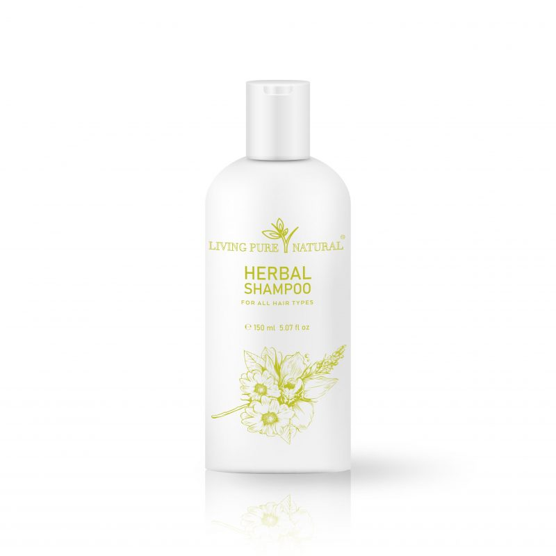 Living Pure Natural HERBAL SHAMPOO for all Hair Types