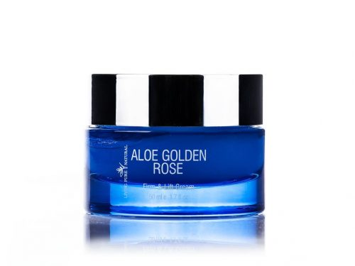 Living Pure Natural ALOE GOLDEN ROSE Firm & Lift Cream