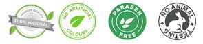 Living Pure Natural no artificial colours paraben free no animal testing 100% natural